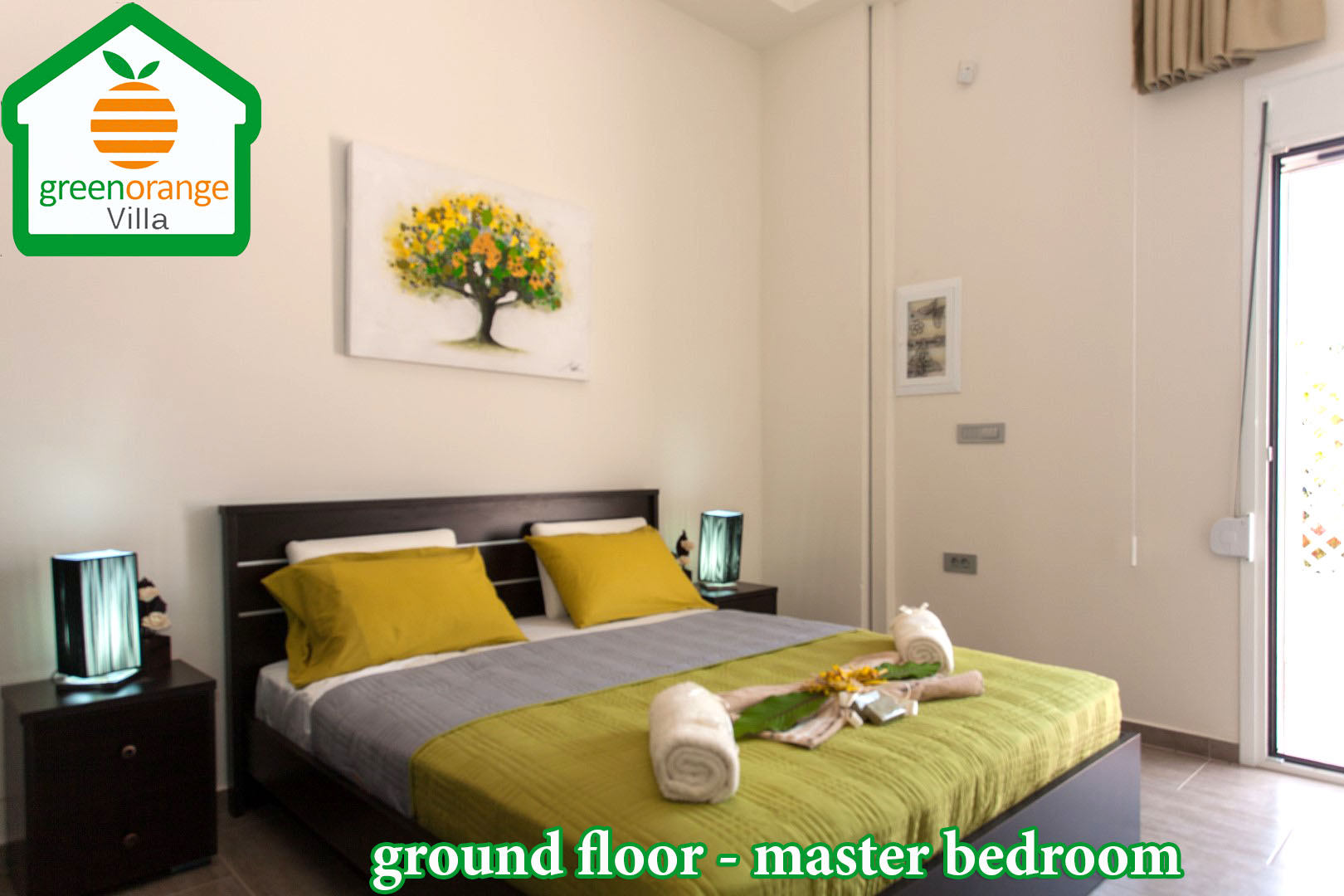bedroom-ground-floor-green-orange-villa-rental-chania
