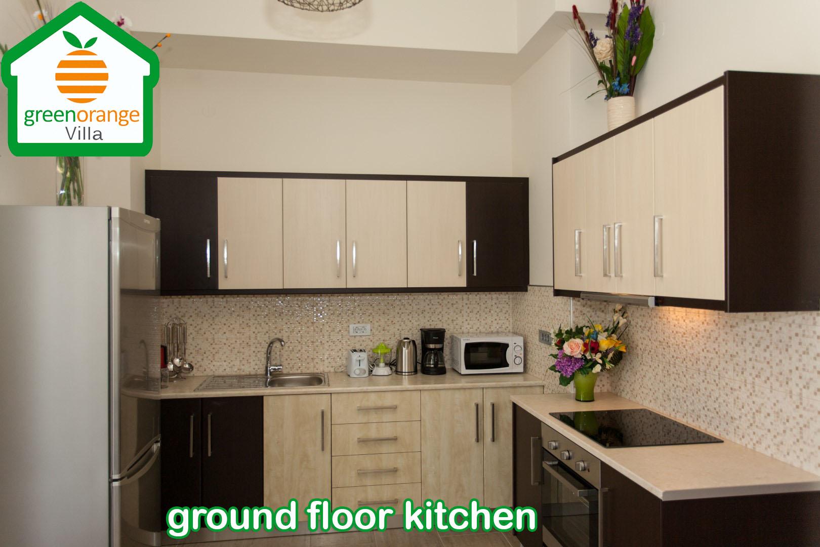 ground-floor-kitchen-green-orange-villa-chania-crete-2