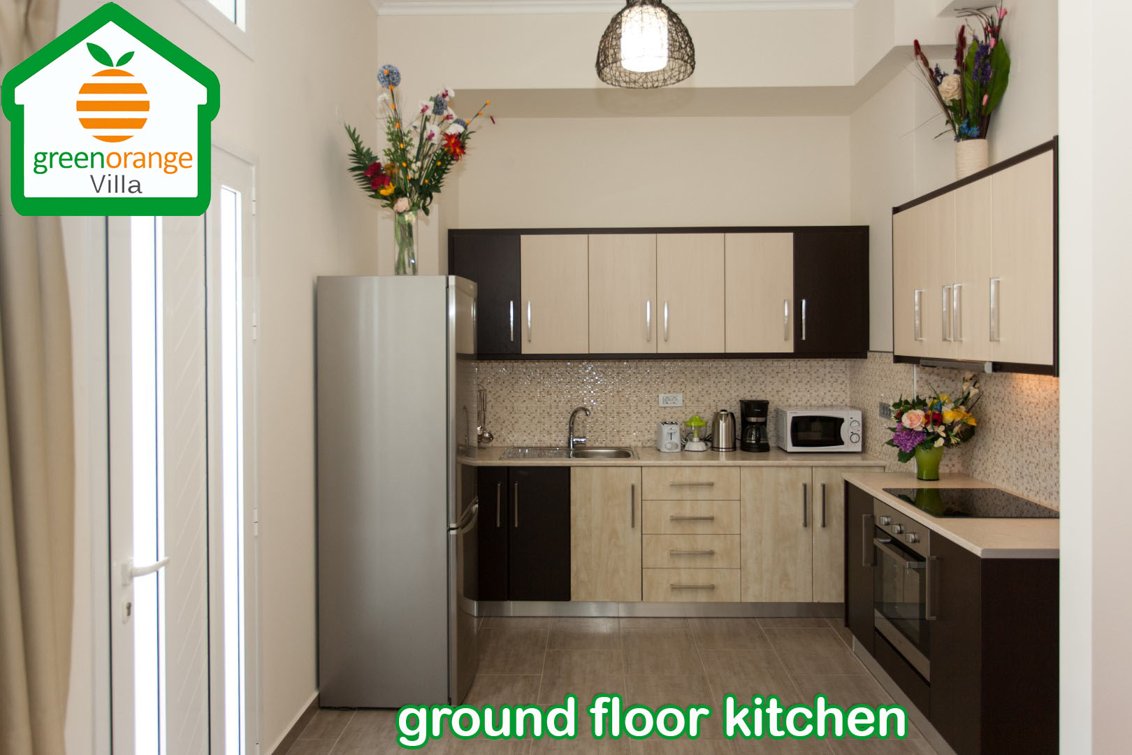 ground-floor-kitchen-green-orange-villa-chania-crete