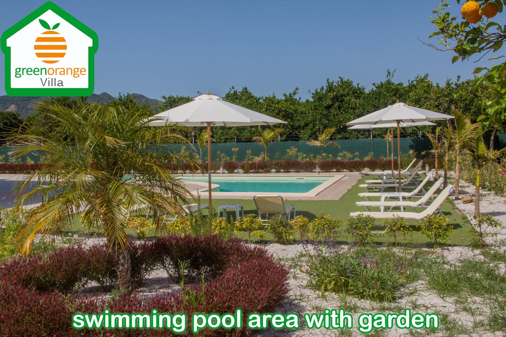 family apartment with swimming pool, villa for rent, Green Orange Villas, chania, crete greece