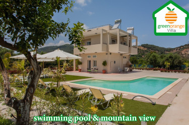 Green Orange Villa for rent in Chania Crete Greece for 10 persons, family