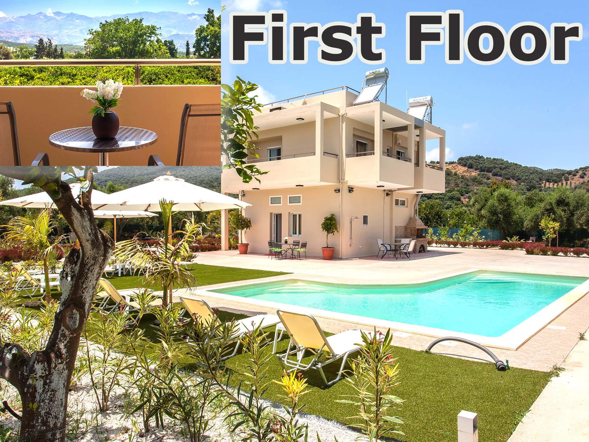 Safe accommodation-in-platanias-chania-crete-green-orange-villa